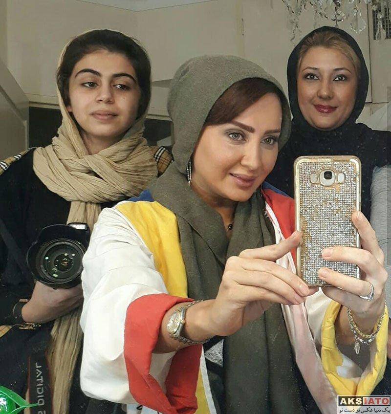 بازیگران بازیگران زن ایرانی  سولماز حصاری در پشت صحنه فیلم من پینوکیو نیستم (4 عکس)