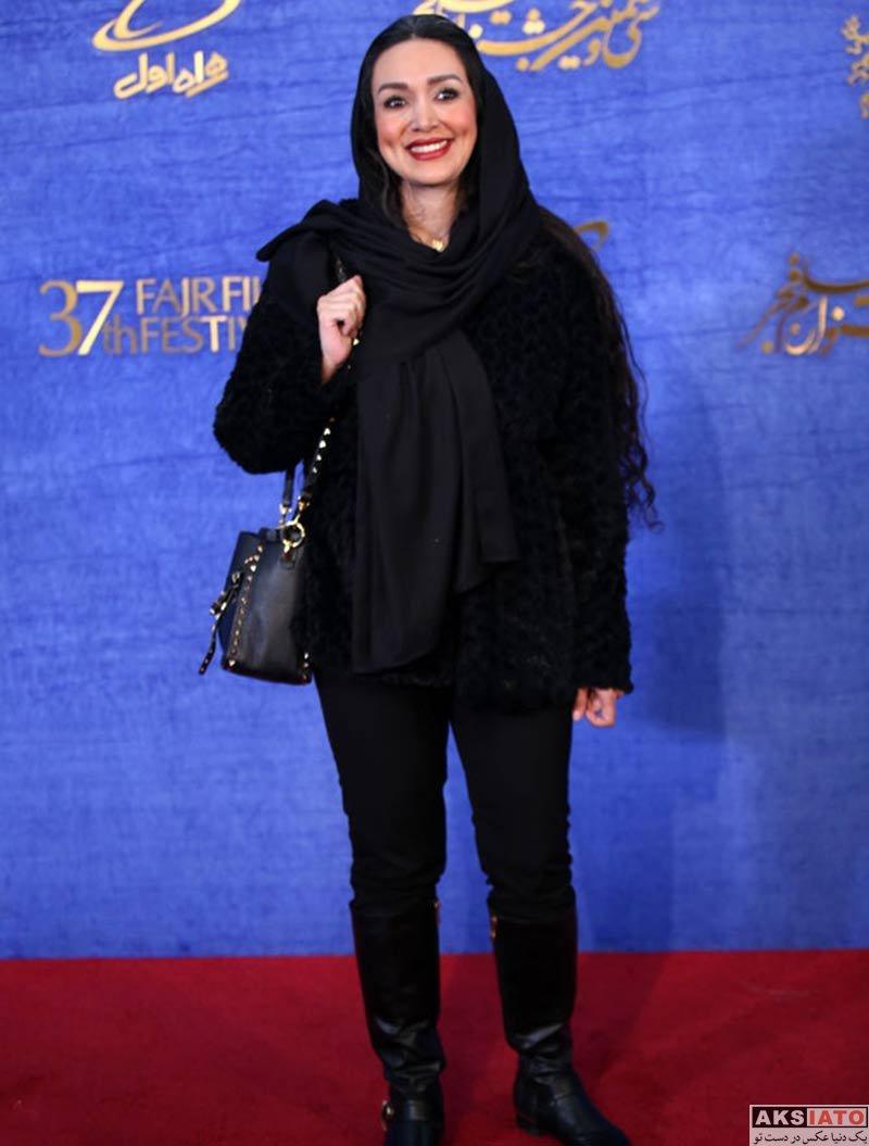 جشنواره فیلم فجر  عاطفه للهی در روز ششم سی و هفتمین جشنواره فیلم فجر (۶ عکس)