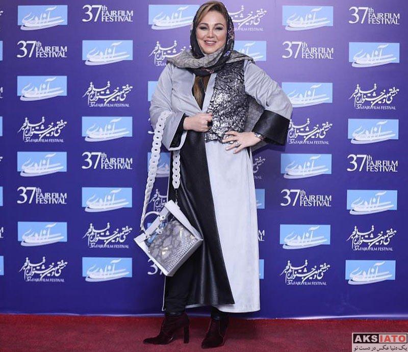 جشنواره فیلم فجر  بهنوش بختیاری در روز اول سی و هفتمین جشنواره فیلم فجر (4 عکس)