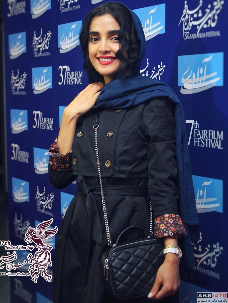 جشنواره فیلم فجر  الهه حصاری در روز ششم سی و هفتمین جشنواره فیلم فجر (۴ عکس)