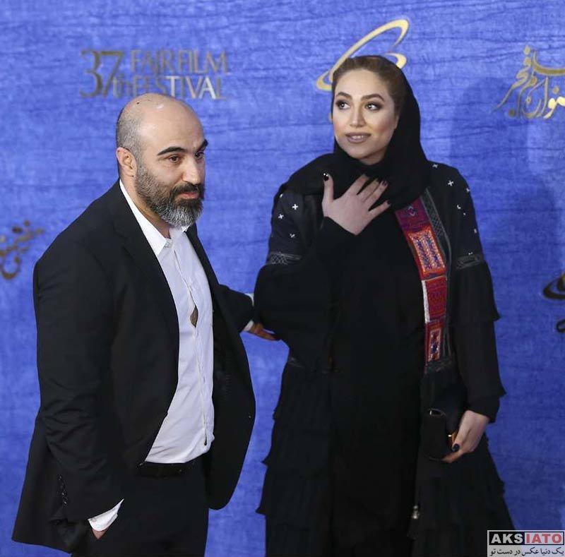 جشنواره فیلم فجر خانوادگی  محسن تنابنده و همسرش در سی و هفتمین جشنواره فیلم فجر (4 عکس)