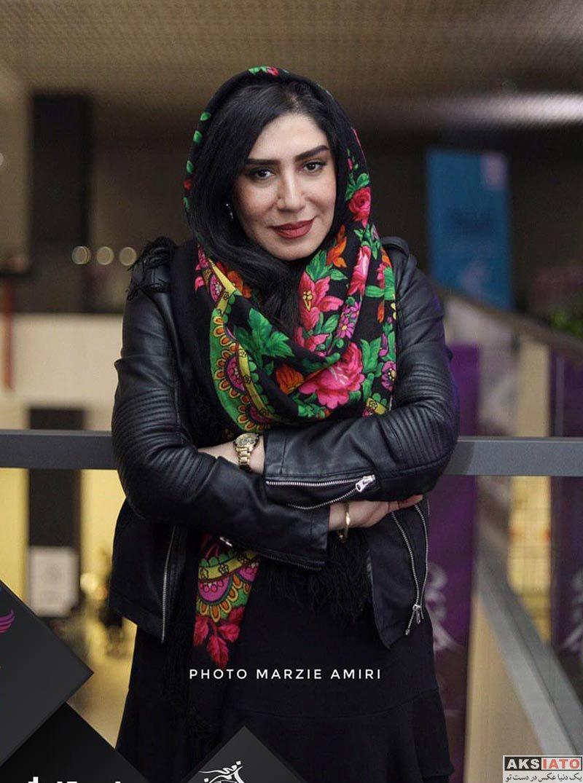 بازیگران جشنواره فیلم فجر  نسیم ادبی در روز ششم سی و هفتمین جشنواره فیلم فجر (۴ عکس)