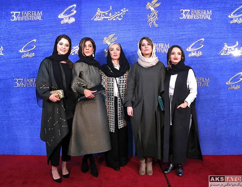 جشنواره فیلم فجر  ندا جبرائیلی در روز ششم سی و هفتمین جشنواره فیلم فجر (۶ عکس)