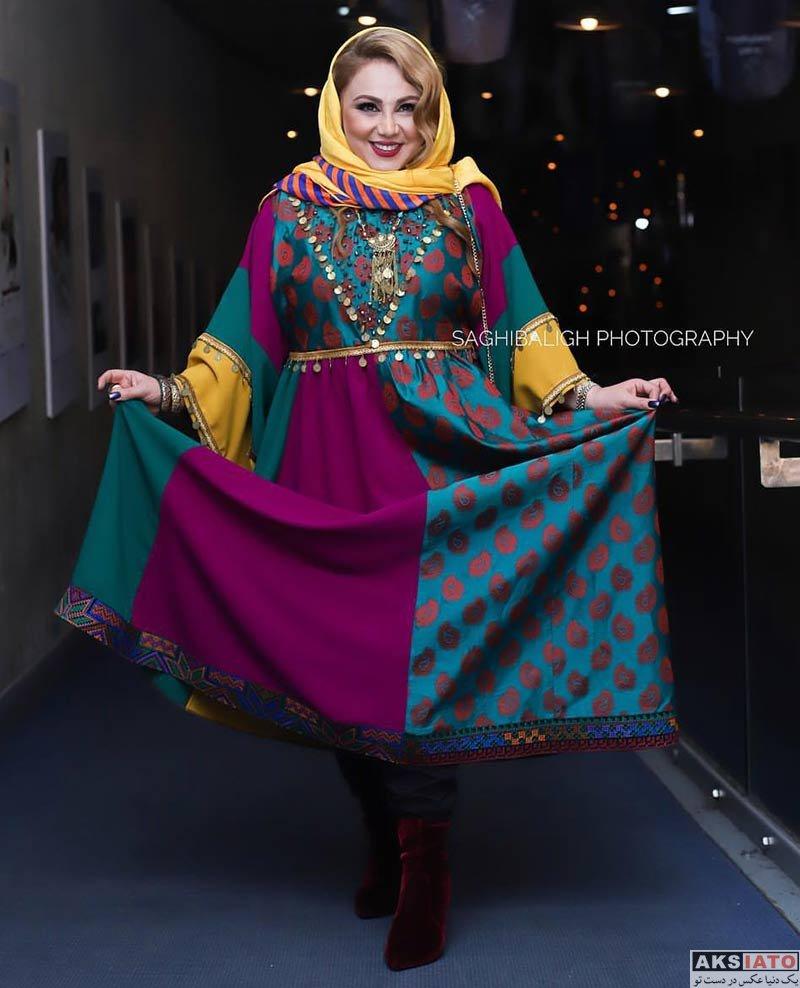 جشنواره فیلم فجر  بهنوش بختیاری در روز پنجم سی و هفتمین جشنواره فیلم فجر (۴ عکس)