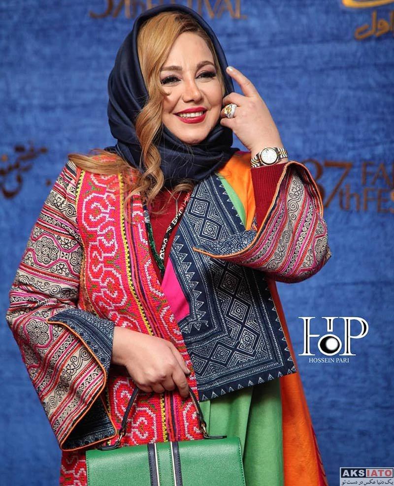 جشنواره فیلم فجر  بهنوش بختیاری در روز سوم سی و هفتمین جشنواره فیلم فجر (6 عکس)