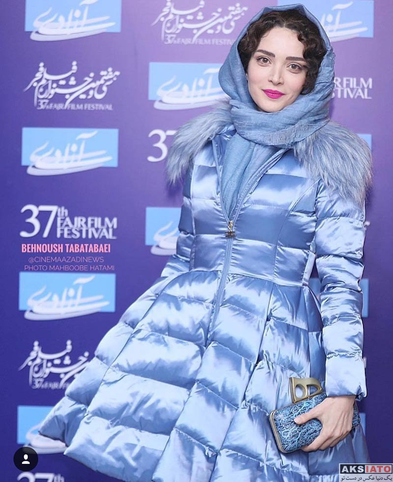 جشنواره فیلم فجر  بهنوش طباطبایی در روز پنجم سی و هفتمین جشنواره فیلم فجر (۶ عکس)