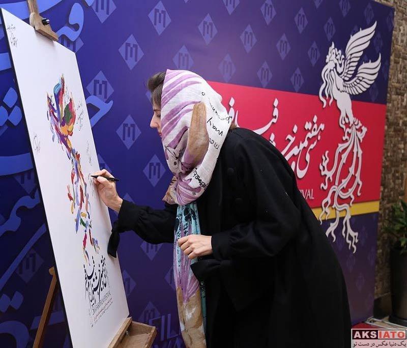 جشنواره فیلم فجر  گلوریا هاردی در روز اول سی و هفتمین جشنواره فیلم فجر (2 عکس)
