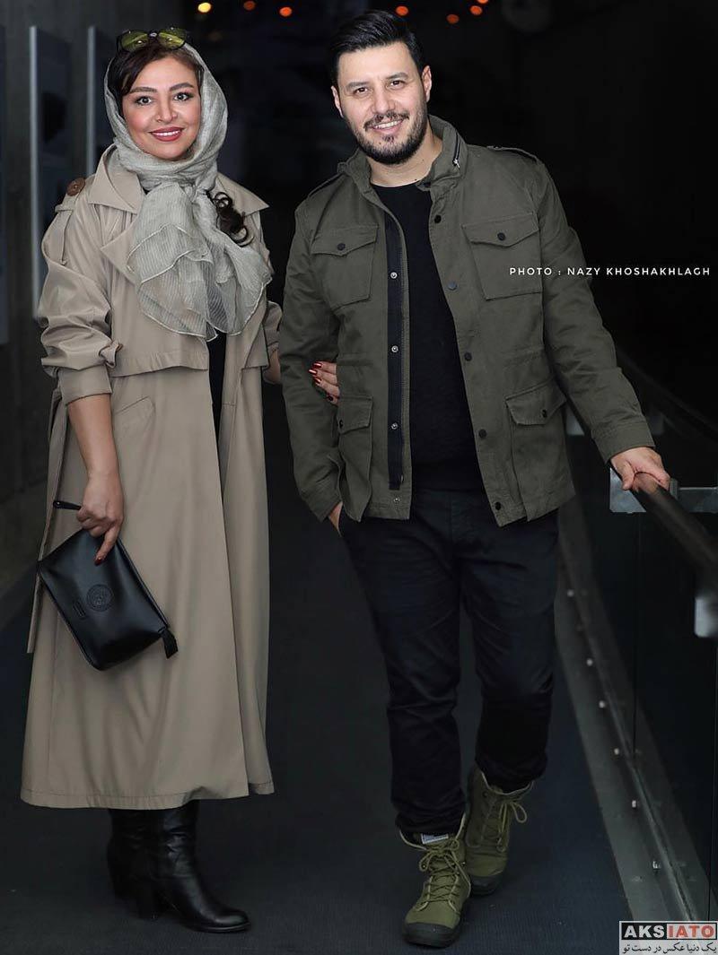 جشنواره فیلم فجر خانوادگی  جواد عزتی و همسرش در سی و هفتمین جشنواره فیلم فجر (2 عکس)
