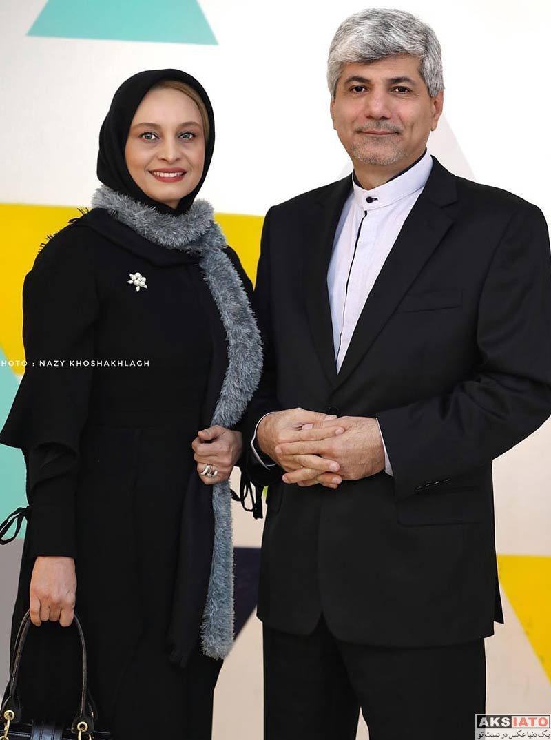 بازیگران بازیگران زن ایرانی خانوادگی  مریم کاویانی و همسرش در اکران مردمی فیلم قرارمون پارک شهر (۴ عکس)