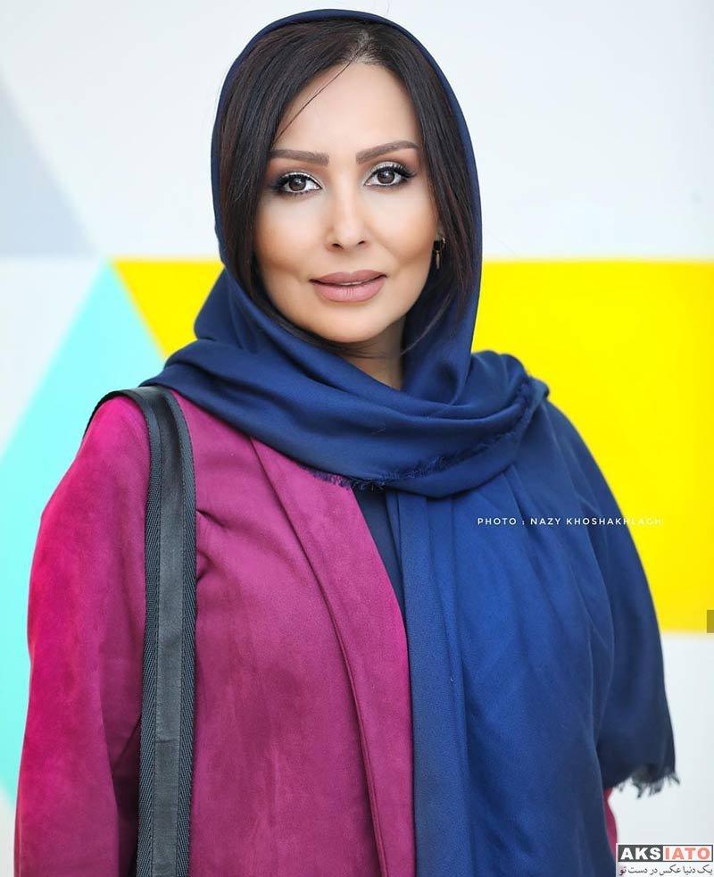 بازیگران بازیگران زن ایرانی  پرستو صالحی در اکران مردمی فیلم قرارمون پارک شهر (۴ عکس)