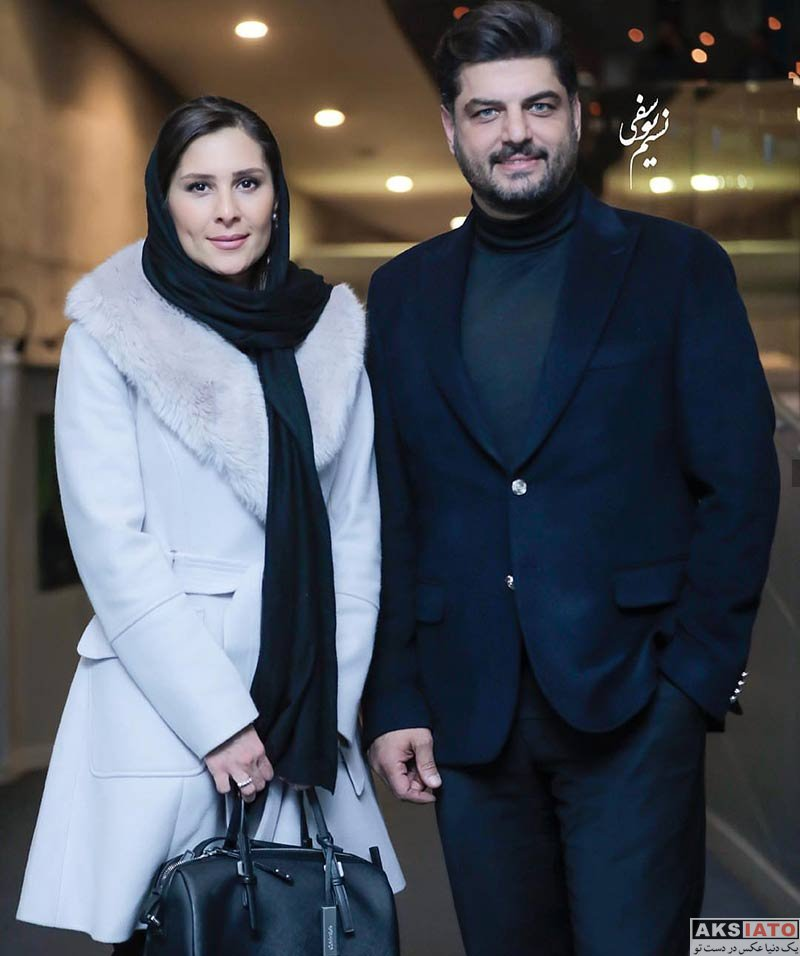 جشنواره فیلم فجر خانوادگی  سام درخشانی و همسرش در سی و هفتمین جشنواره فیلم فجر (2 عکس)