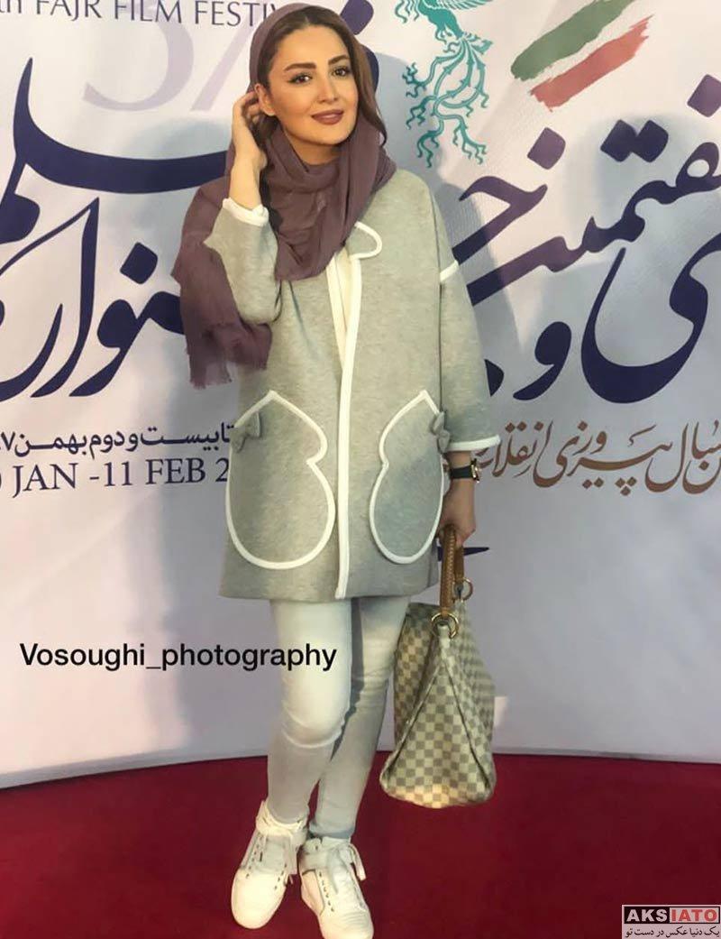 جشنواره فیلم فجر  شیلا خداداد در روز ششم سی و هفتمین جشنواره فیلم فجر (۴ عکس)