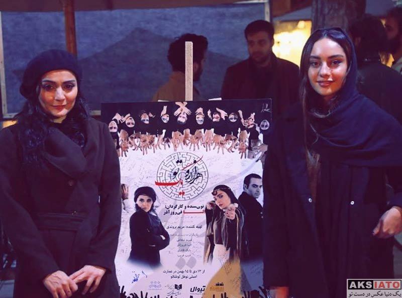 بازیگران بازیگران زن ایرانی  ترلان پروانه در اجرای نمایش هزار و یک تو (4 عکس)