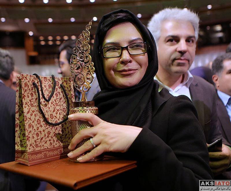 بازیگران بازیگران زن ایرانی  لعیا زنگنه در اختتامیه پنجمین دوره جشنواره جامجم (4 عکس)