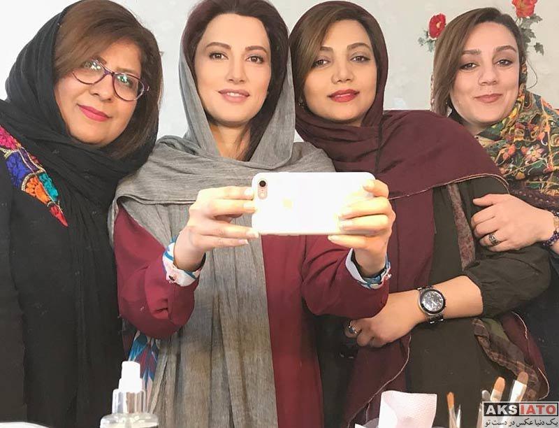 بازیگران بازیگران زن ایرانی  سمیرا حسینی در پشت صحنه سریال زیر همکف (4 عکس)