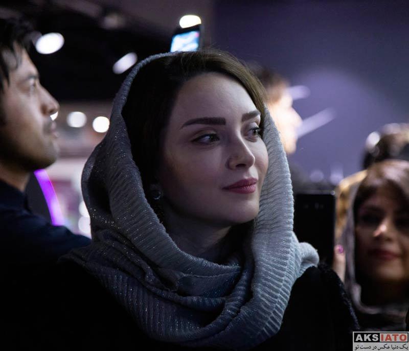 بازیگران بازیگران زن ایرانی  بهنوش طباطبایی در مراسم رونمایی از آلبوم گروه نوشه (۳ عکس)