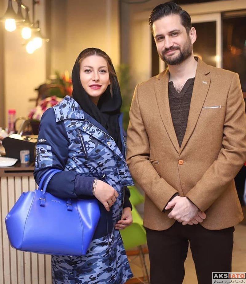 بازیگران بازیگران زن ایرانی  فریبا نادری رونمایی از پوستر نمایش اتوپیا (4 عکس)