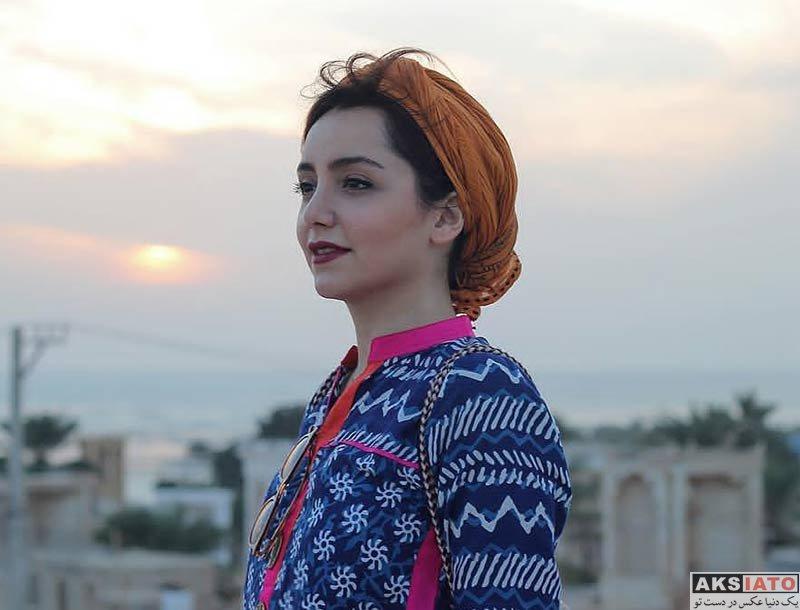 بازیگران بازیگران زن ایرانی  نازنین بیاتی در جنوب کشور زمستان 97 (4 عکس)