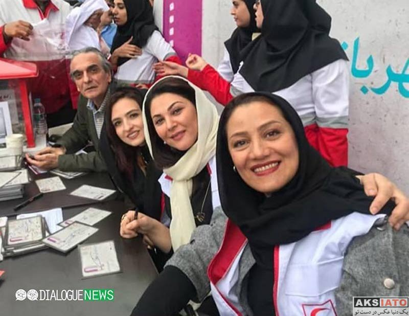 بازیگران بازیگران زن ایرانی  شبنم مقدمی در مراسم جمع آوری کمک مالی برای سیل زدگان (4 عکس)