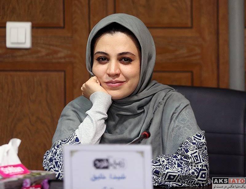 بازیگران بازیگران زن ایرانی  شیدا خلیق در نشست خبری سریال زوج یا فرد (4 عکس)