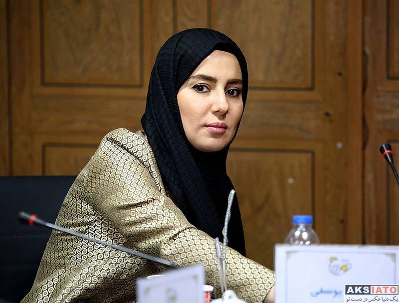بازیگران بازیگران زن ایرانی  شیدا یوسفی در نشست خبری سریال نون خ (3 عکس)