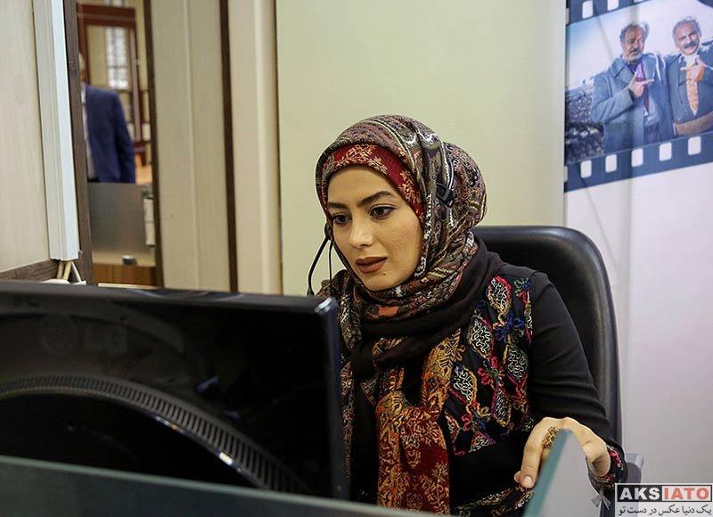 بازیگران بازیگران زن ایرانی  هدیه بازوند در نشست خبری سریال نون خ (۴ عکس)