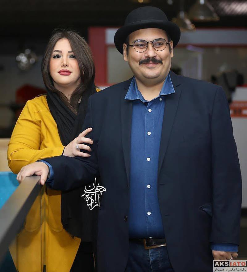 بازیگران جشنواره جهانی فیلم فجر خانوادگی  رضا داوودنژاد و همسرش در 37مین جشنواره جهانی فیلم فجر (3 عکس)