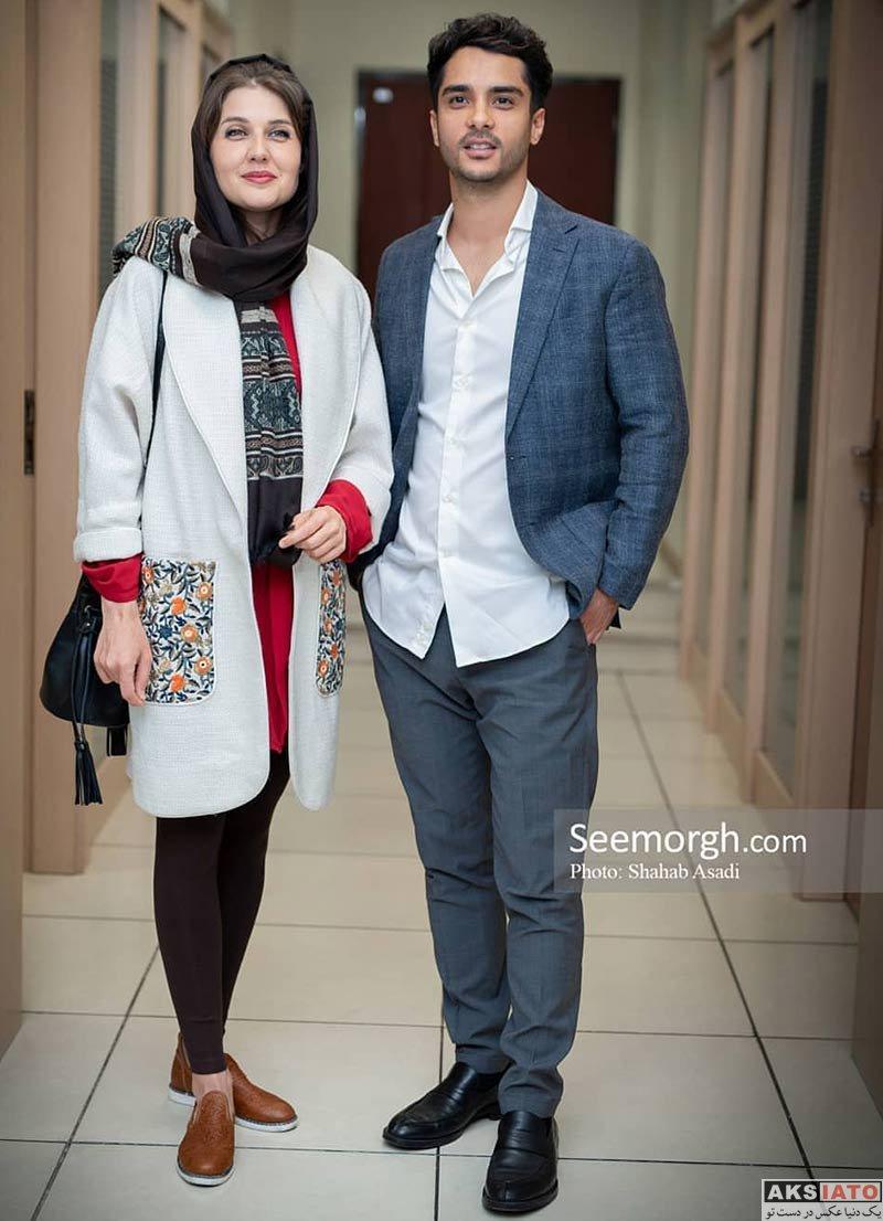 بازیگران خانوادگی  ساعد سهیلی و همسرش در اکران مردمی فیلم ژن خوک (2 عکس)