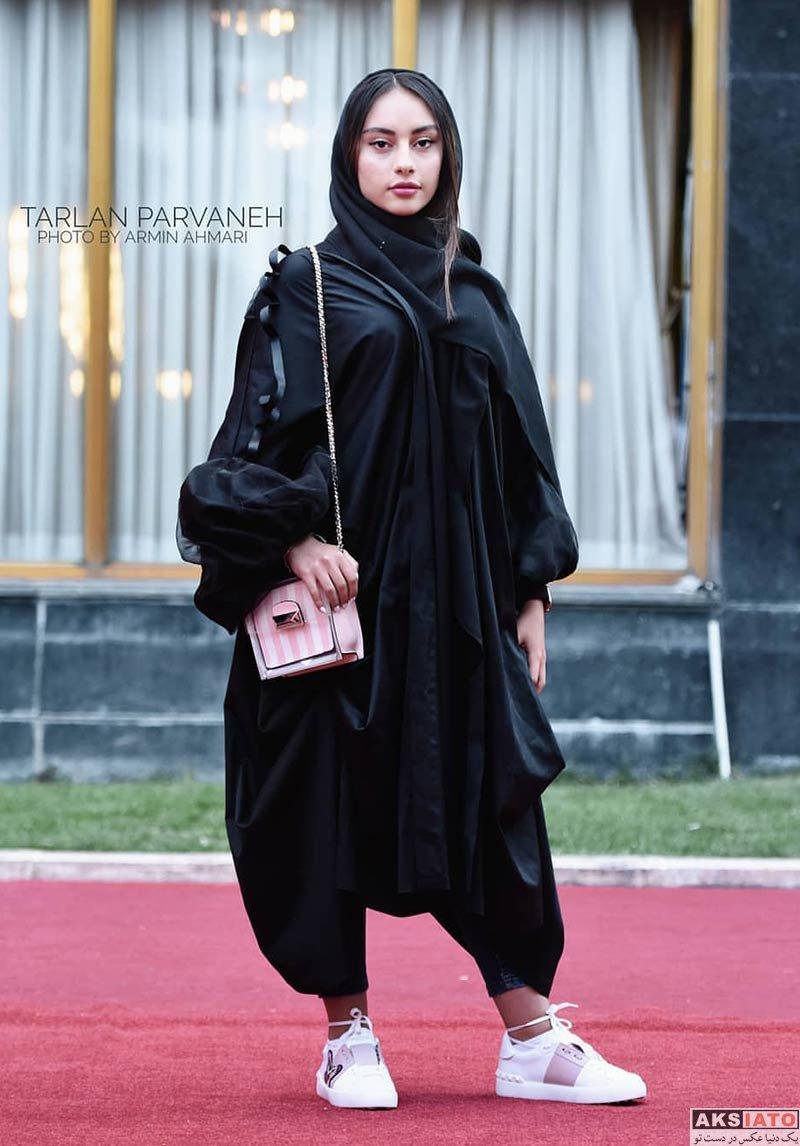 بازیگران بازیگران زن ایرانی جشنواره جهانی فیلم فجر  ترلان پروانه در اختتامیه سی و هفتمین جشنواره جهانی فیلم فجر (6 عکس)