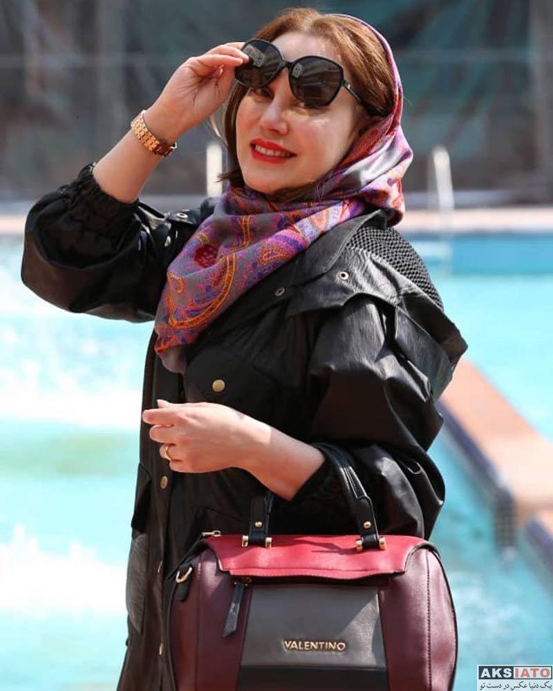 بازیگران بازیگران زن ایرانی  عکس های جدید آرام جعفری در اردیبهشت ماه 98 (10 تصویر)