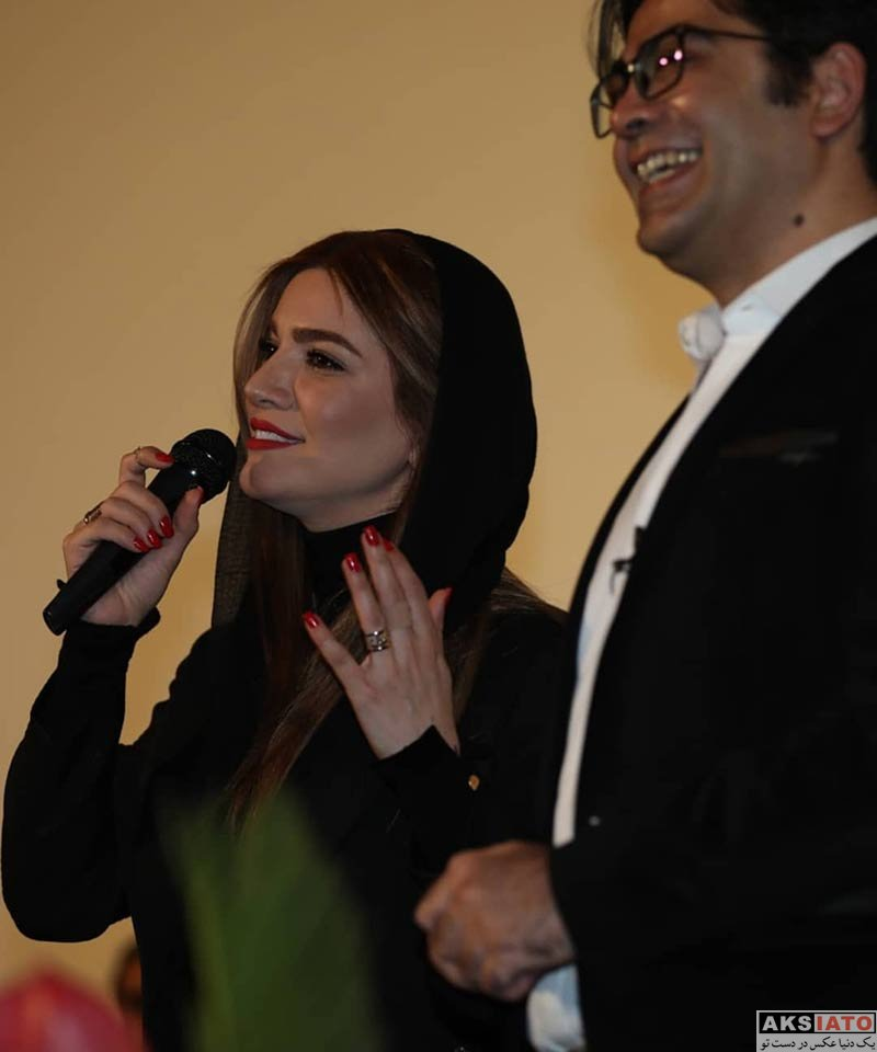 بازیگران بازیگران زن ایرانی  متین ستوده در مراسم رونمایی از مجوعه رالی ایرانی (۴ عکس)
