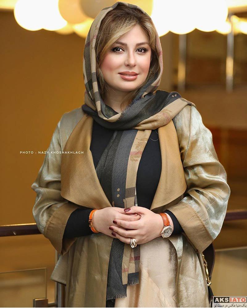 بازیگران بازیگران زن ایرانی  نیوشا ضیغمی در مراسم رونمایی سریال رالی ایرانی ۲ (۴ عکس)