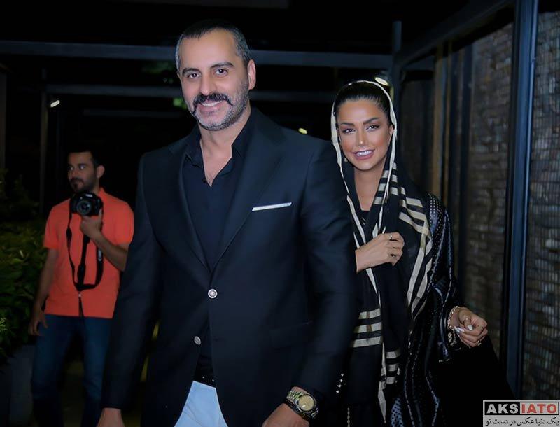 خانوادگی  علیرام نورایی و همسرش در مراسم افطاری موسسه نقش اول (۴ عکس)