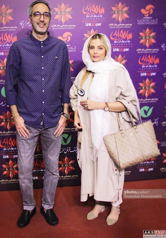 بازیگران خانوادگی  امیرمهدی ژوله و همسرش در اکران فیلم سامورایی در برلین (۳ عکس)