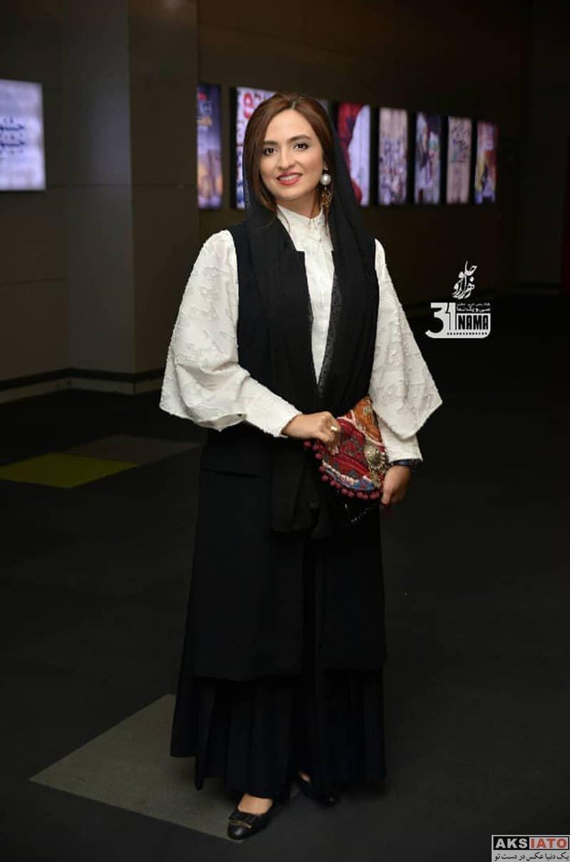 بازیگران بازیگران زن ایرانی  گلاره عباسی در اکران خصوصی فیلم کارت پرواز (4 عکس)