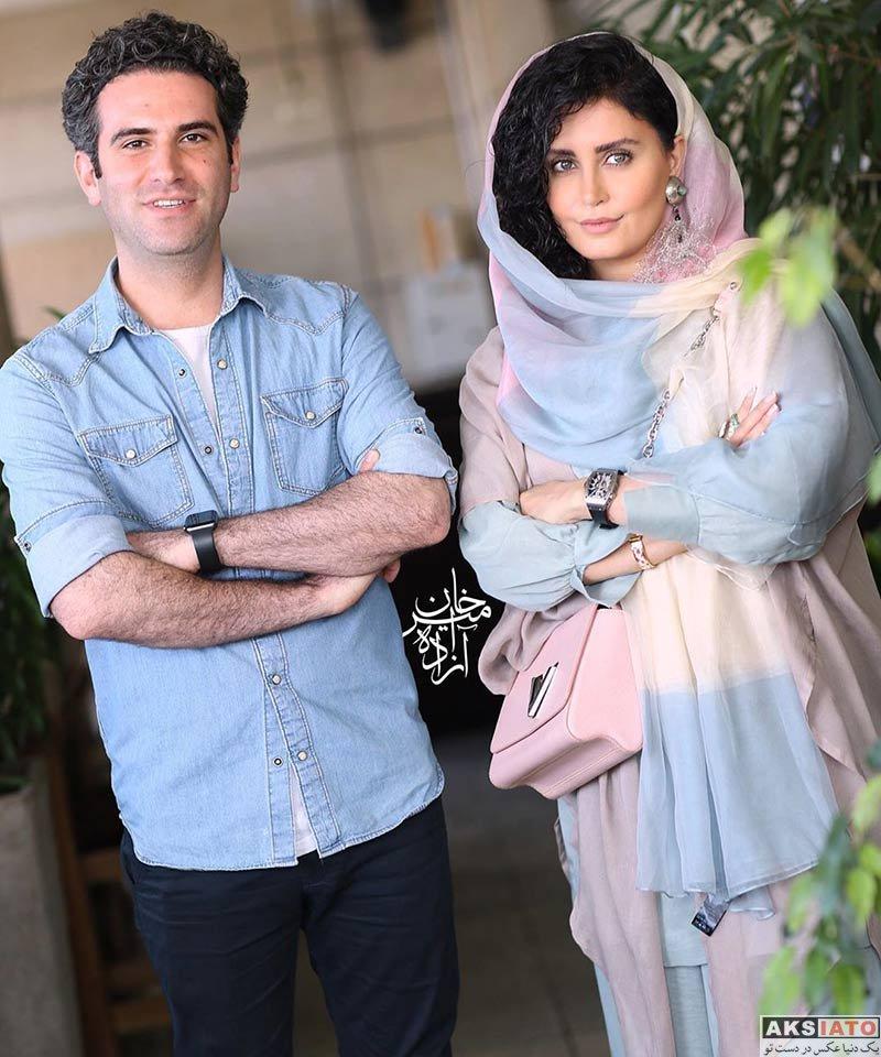 بازیگران بازیگران مرد ایرانی  عکس های هوتن شکیبا در اکران مردمی فیلم «شبی که ماه کامل شد»