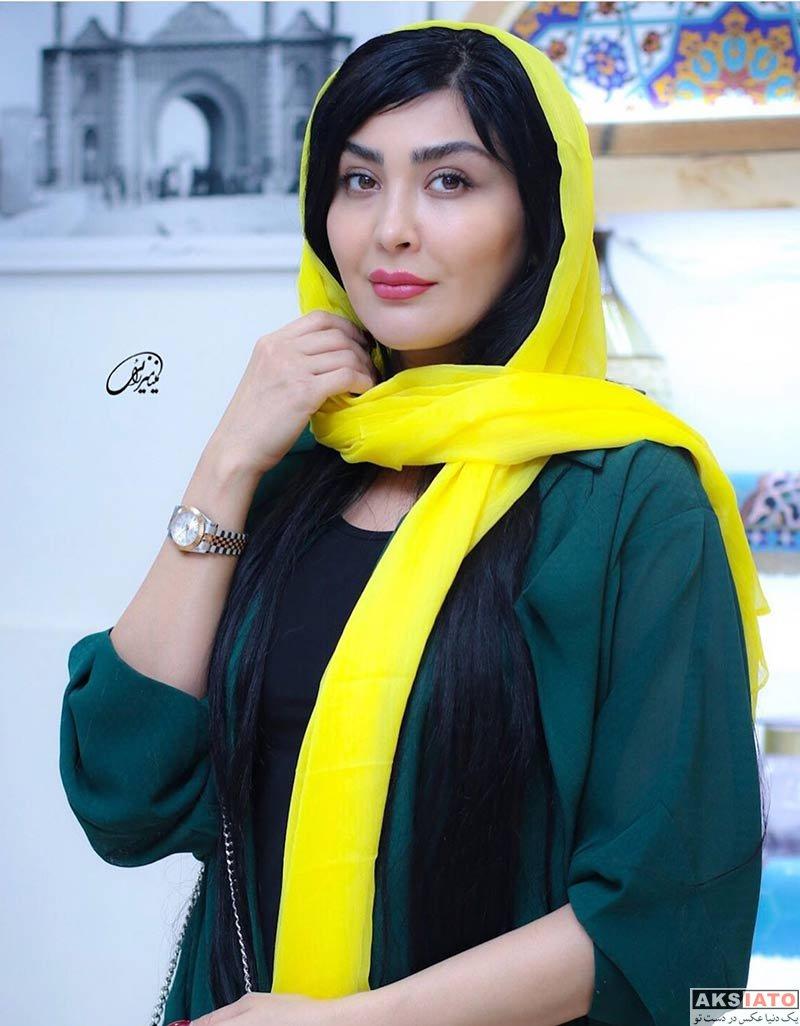 بازیگران بازیگران زن ایرانی  مریم معصومی در افتتاحیه نمایش قصه ظهر جمعه (3 عکس)