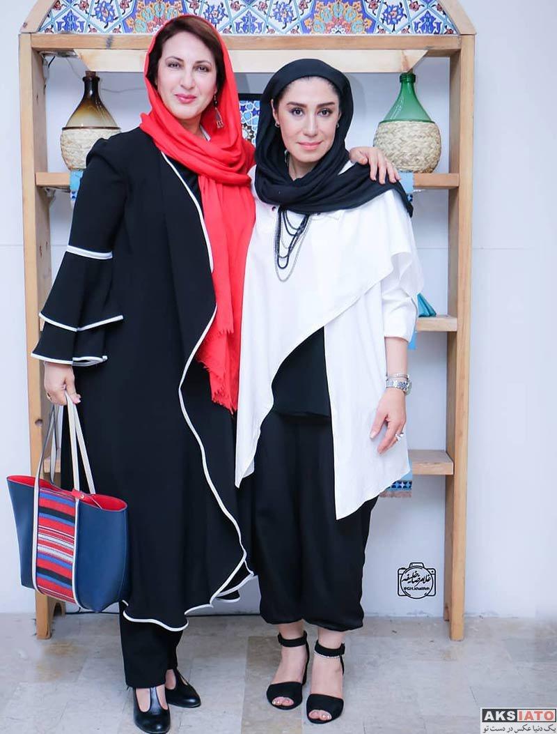 بازیگران بازیگران زن ایرانی  نسیم ادبی در افتتاحیه نمایش قصه ظهر جمعه (2 عکس)