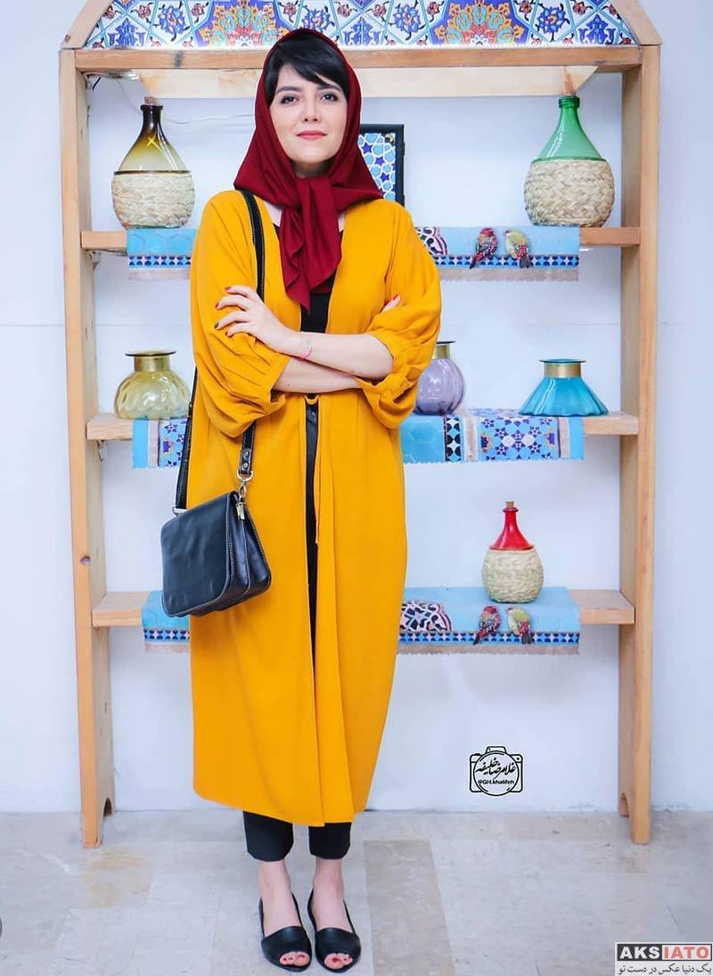 بازیگران بازیگران زن ایرانی  ندا عقیقی در افتتاحیه نمایش قصه ظهر جمعه (۳ عکس)