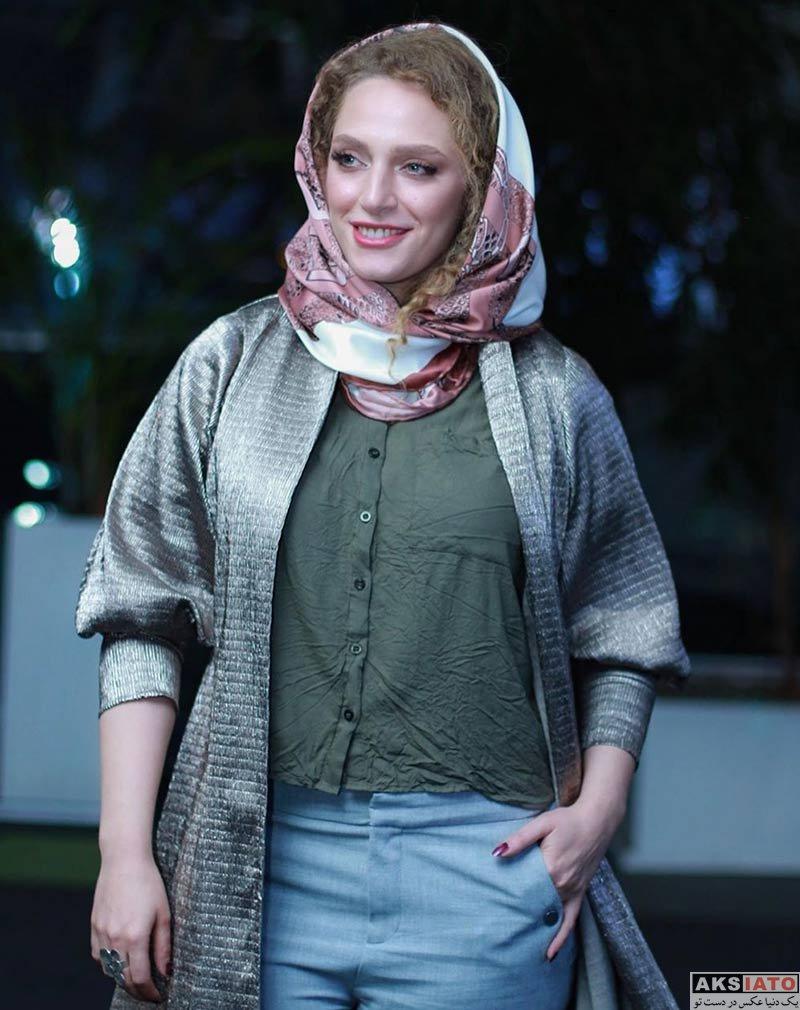 بازیگران بازیگران زن ایرانی  نگین معتضدی در اکران خصوصی فیلم کارت پرواز (۳ عکس)