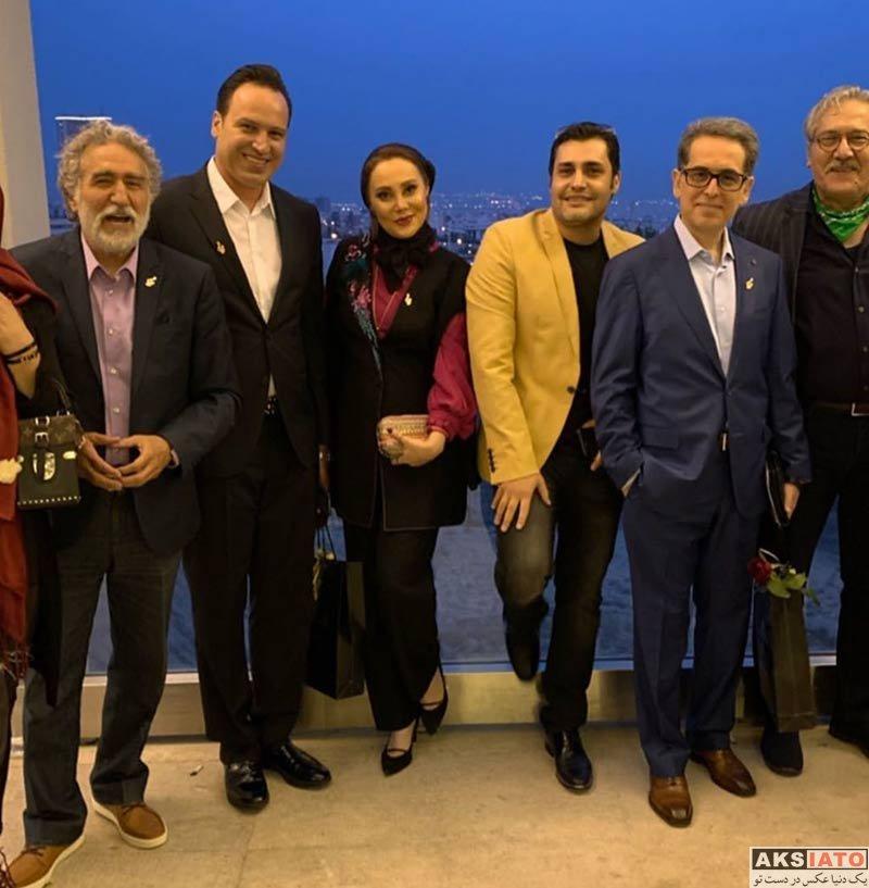 بازیگران بازیگران زن ایرانی جشن تولد ها  آرام جعفری و همسرش در نوزدهمین جشن حافظ (۲ عکس)