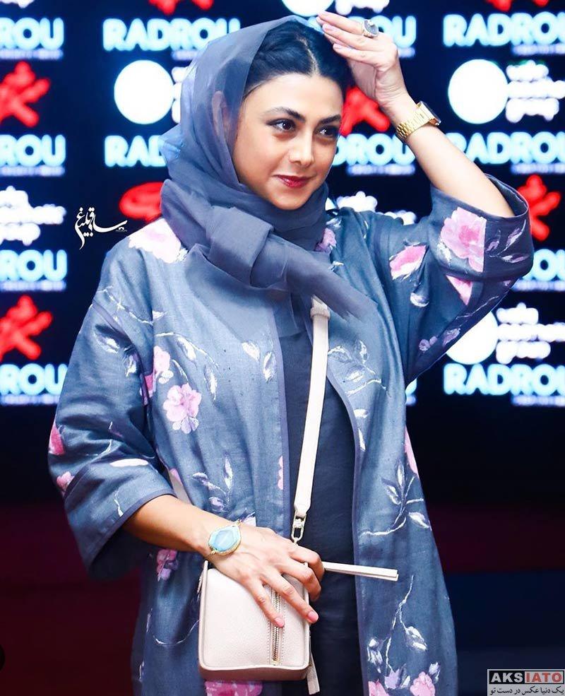 بازیگران بازیگران زن ایرانی  آزاده صمدی در اکران خصوصی فیلم سرخ پوست (4 عکس)