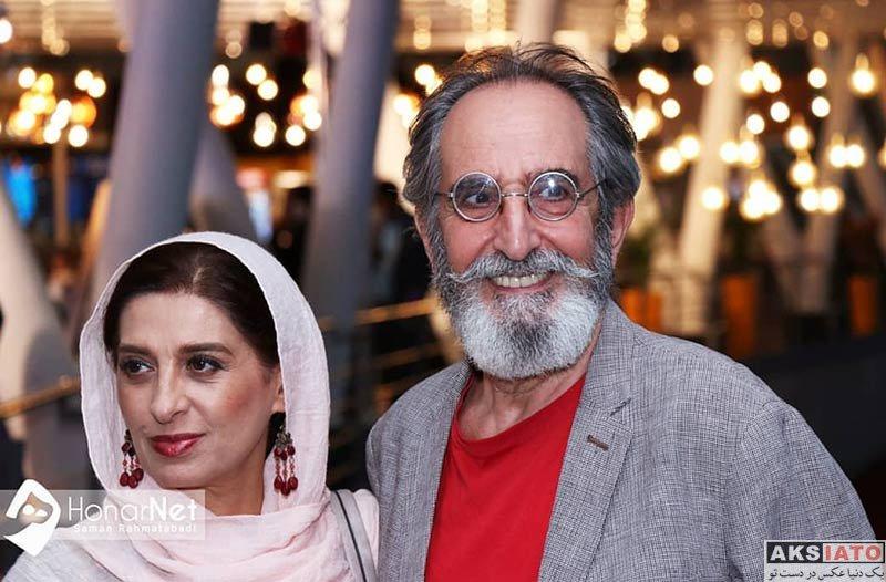 خانوادگی  فرهاد آئیش و همسرش در افتتاحیه هفتمین جشنواره فیلم شهر (2 عکس)