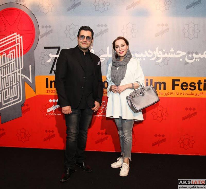 بازیگران بازیگران زن ایرانی  آرام جعفری در روز دوم هفتمین جشنواره فیلم شهر (3 عکس)
