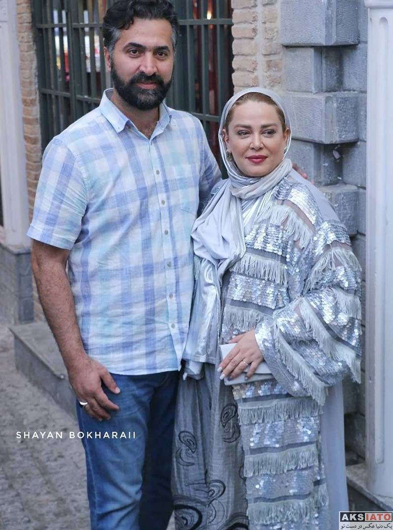 خانوادگی  بهاره رهنما و همسرش در اکران خصوصی فیلم ایکس لارج (۳ عکس)