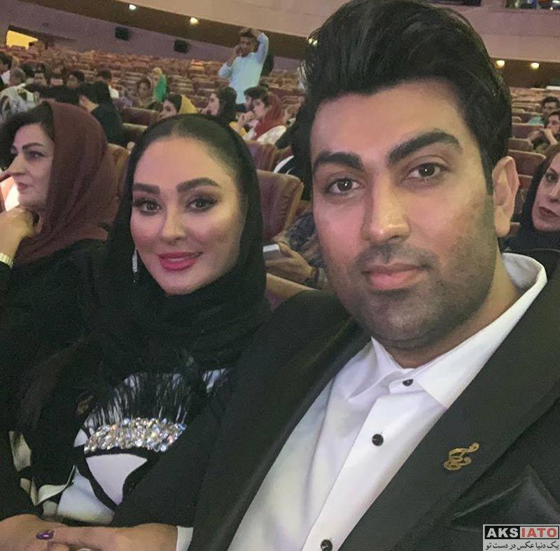خانوادگی  الهام حمیدی و همسرش در نوزدهمین جشن حافظ (1 عکس)