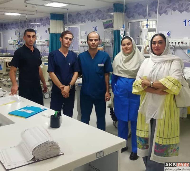 بازیگران بازیگران زن ایرانی  الهام حمیدی در بیمارستان مفرح تهران (4 عکس)
