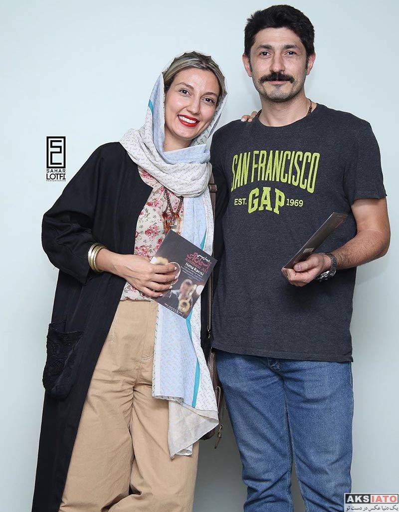 بازیگران  حدیث میرامینی و همسرش در کنسرت نیما رئیسی (۳ عکس)