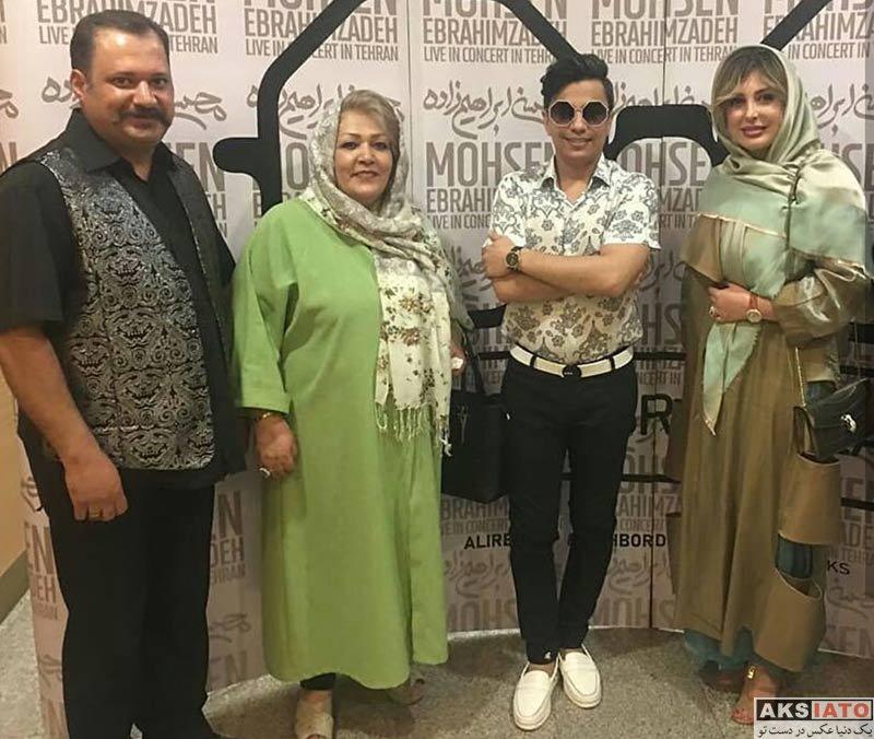 بازیگران بازیگران زن ایرانی  نیوشا ضیغمی در کنسرت محسن ابراهیم زاده (4 عکس)