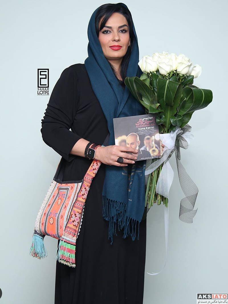 بازیگران بازیگران زن ایرانی  سارا خوئینی ها در کنسرت نیما رئیسی (2 عکس)